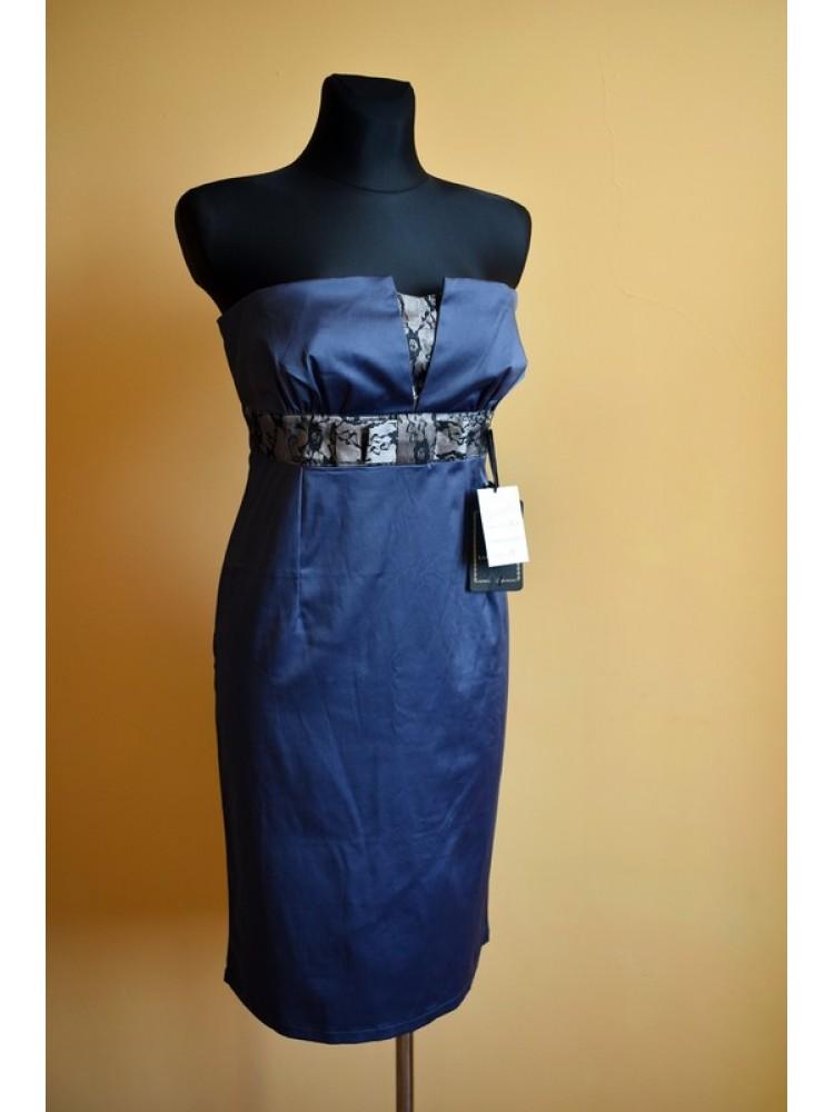 Mėlyna tamsi suknelė