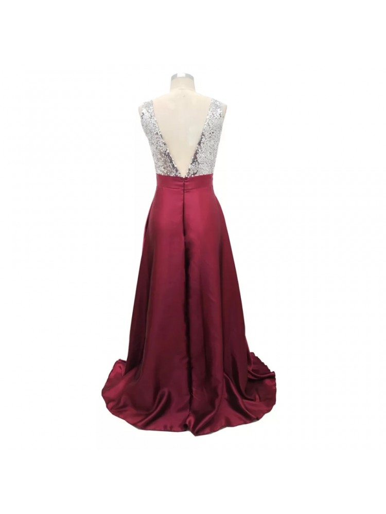 Ilga bordo suknelė 200