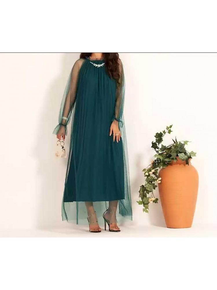 Žalia tulio suknelė